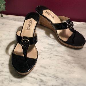 MICHAEL KORS Cork Wedge Sandals-8M
